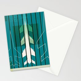 Missiles at dawn... in green! Stationery Cards