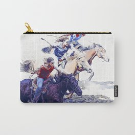 Horse Racing Cowgirls Carry-All Pouch