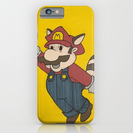 Super Mario Racoon iPhone & iPod Case