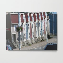 Colorful Houses St Johns Newfoundland Canada Metal Print