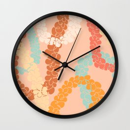 Flower Lei Wall Clock