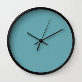 Light Blue Water Wave - Atlantic Water Color Palette Scheme Wall Clock