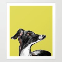 greyhound Art Prints featuring Greyhound by a collection. James Peart