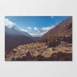 Mountain Village in Nepal Canvas Print