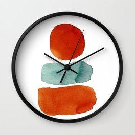 Orange on Top Wall Clock
