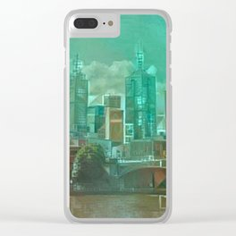 Melbourne Waterfront Abstract Clear iPhone Case