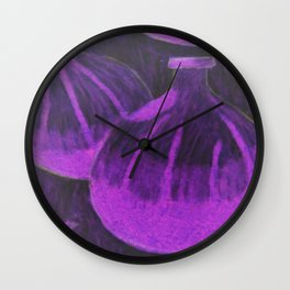 Purple and black passionfruit Wall Clock