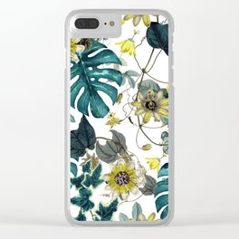 Tropical Flowers V Clear iPhone Case