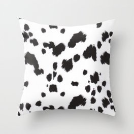 Dalmation Print Throw Pillow