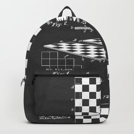 Chess Checkerboard Antique Patent Backpack