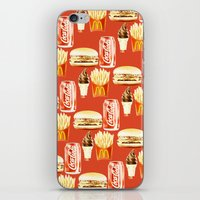 junk food iPhone & iPod Skins featuring Junk Food by popsicledonut