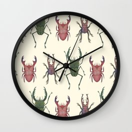Stag Beetles Wall Clock