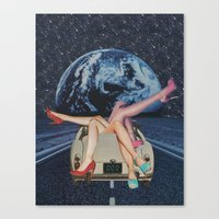 trip Canvas Prints featuring Trip by Michelle Cordes