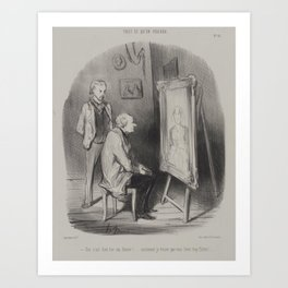Honore Daumier - Yes, It Is My Deceased Wife Only You Have Flattered Her Too Much Art Print