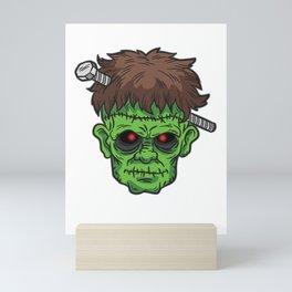 Frankensteins Monstger With Screw Through his head Mini Art Print