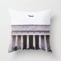 lincoln Throw Pillows featuring Lincoln by Sean Horton