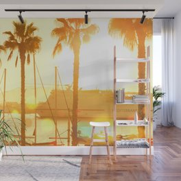 The Marina At Sunset - Landscape Photography Wall Mural