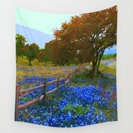 Bluebonnet season in Texas Wall Tapestry