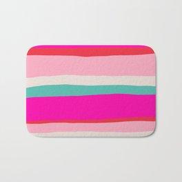 Candy Stripe Christmas Bath Mat