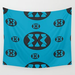 blue patterns Wall Tapestry
