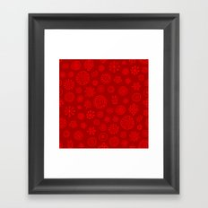 Red on Red Print Framed Art Print