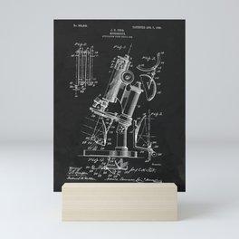 Microscope 1908 Patent Mini Art Print