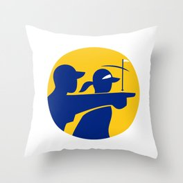 Caddie and Golfer Icon Throw Pillow