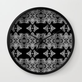 Ornament - Tree of Life - Rebirth - Mehndi Love - Black #1 Wall Clock