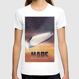 Mars Spaceship - sci-fi travel space art poster. T-shirt