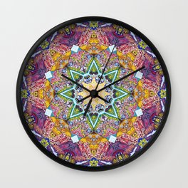 Symmetrical Colors Abstract Wall Clock