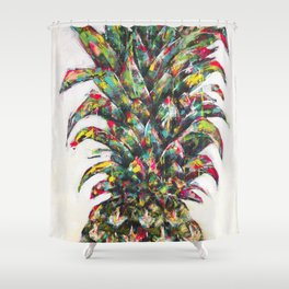 Pineapple no.3 Shower Curtain