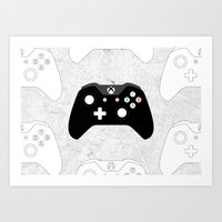 xbox Art Prints featuring Xbox One Controller by Tino-George
