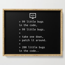 Programming Debugging Code Funny Gift Serving Tray