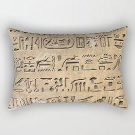 Egypt Hieroglyphs Rectangular Pillow