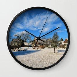 idyllic country life Wall Clock