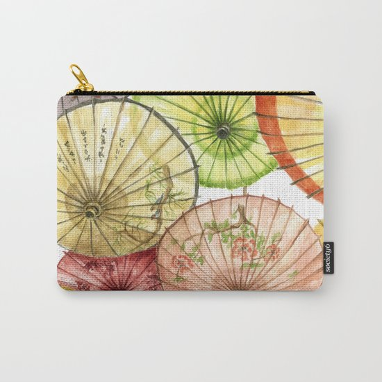 Paper Umbrellas Carry-All Pouch