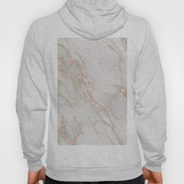 Marble Rose Gold Blush Pink Metallic by Nature Magick Hoody