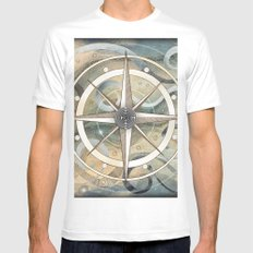 pathfinder White MEDIUM Mens Fitted Tee