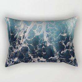 Blue Wave Surf Rectangular Pillow