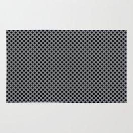 Sharkskin and Black Polka Dots Rug