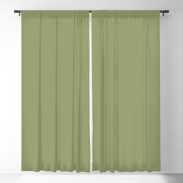 Olive Green Color Solid Blackout Curtain