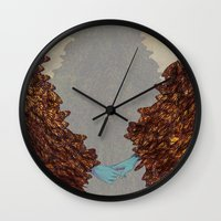 community Wall Clocks featuring Community by Rhea Ewing