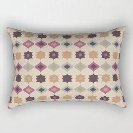 Retro pattern . Pastel . Rectangular Pillow