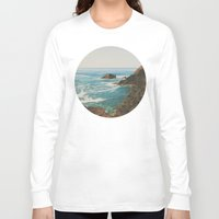 oregon Long Sleeve T-shirts featuring Oregon Coast by Leah Flores