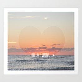HELLO SUMMER Art Print