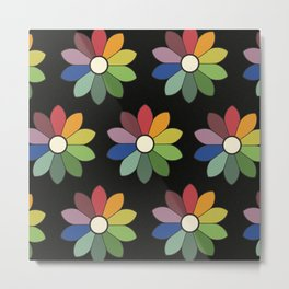 Flower pattern based on James Ward's Chromatic Circle (vintage wash) Metal Print