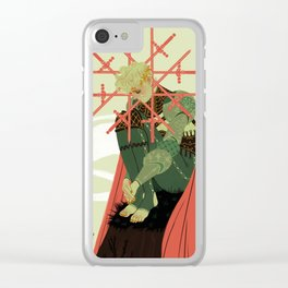8 of Swords Clear iPhone Case