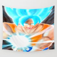 goku Wall Tapestries featuring SSGSS Goku by AmaterasuVG