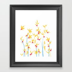 Bamboo tree pattern Framed Art Print