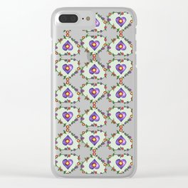 Heartily Floral Clear iPhone Case